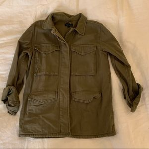 Topshop Utility Military Green Shirt Jacket size 4